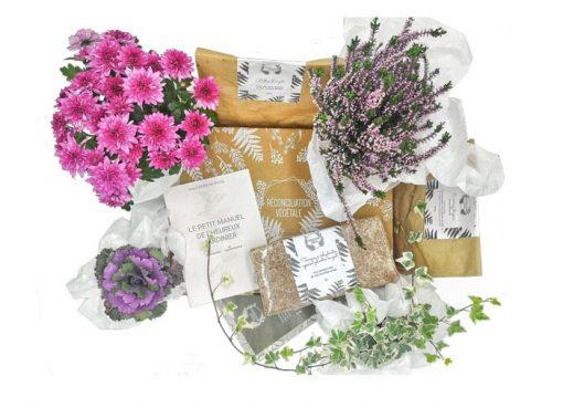 Détail Box de jardinage Automne Salutation au soleil
