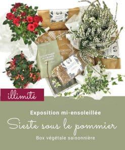 Box de jardinage. Abonnement saisonnier illimité. Collection Automne 19