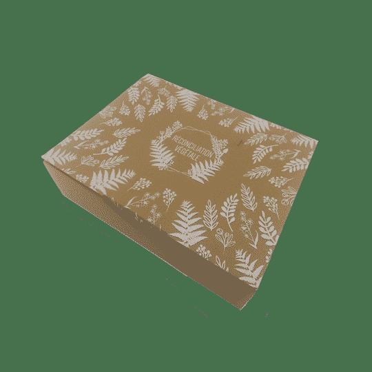 Carton d'emballage en papier recyclé. Box de jardinage responsable.