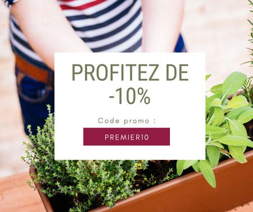 10% de réduction offert sur l'achat d'une box de jardinage