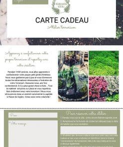 Carte cadeau Atelier Terrarium Paris et île de France