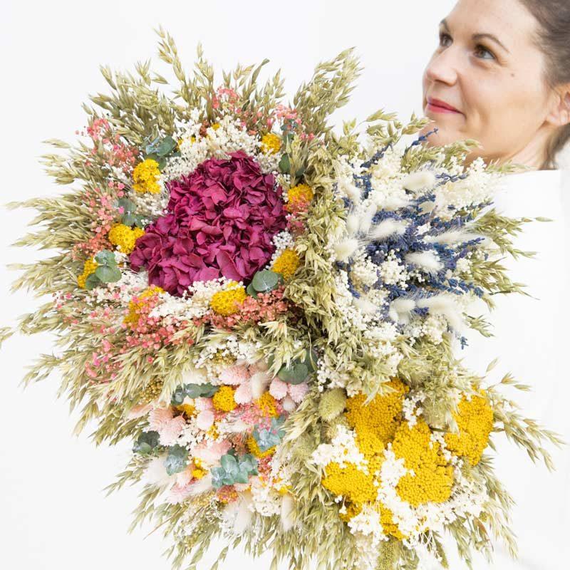 Bouquet de fleurs responsable. Choisir un bouquet de fleurs séchées.