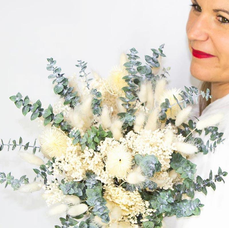 Bouquet de fleurs séchées spécial mariage