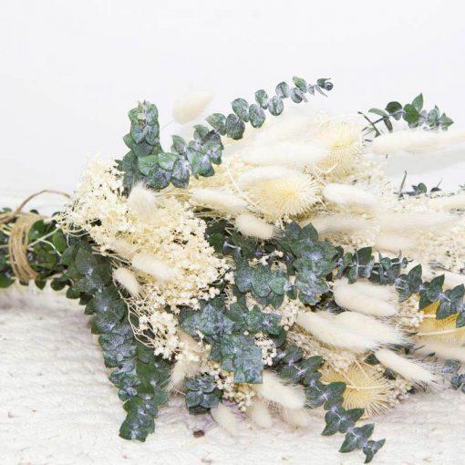 Bouquet de fleurs séchées ivoire pour mariage