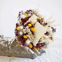 Bouquet de fleurs séchées à base de palme