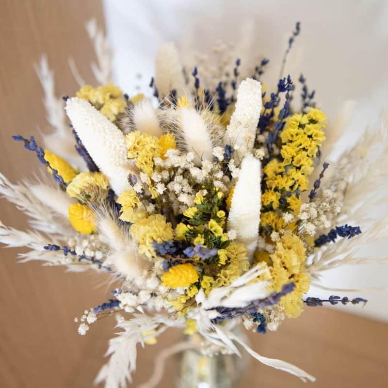 Bouquet de fleurs séchées lavande et sanfordii