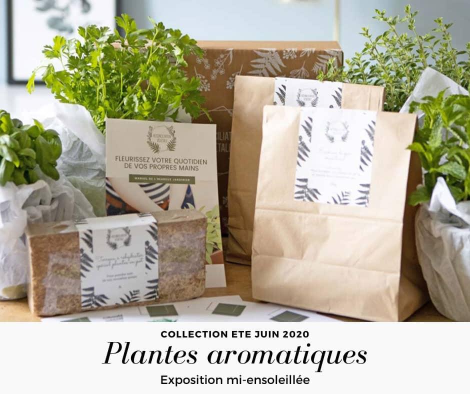 Kit de jardinage plantes aromatiques