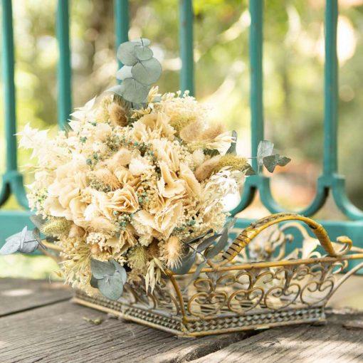 Bouquet de fleurs séchées bucolique