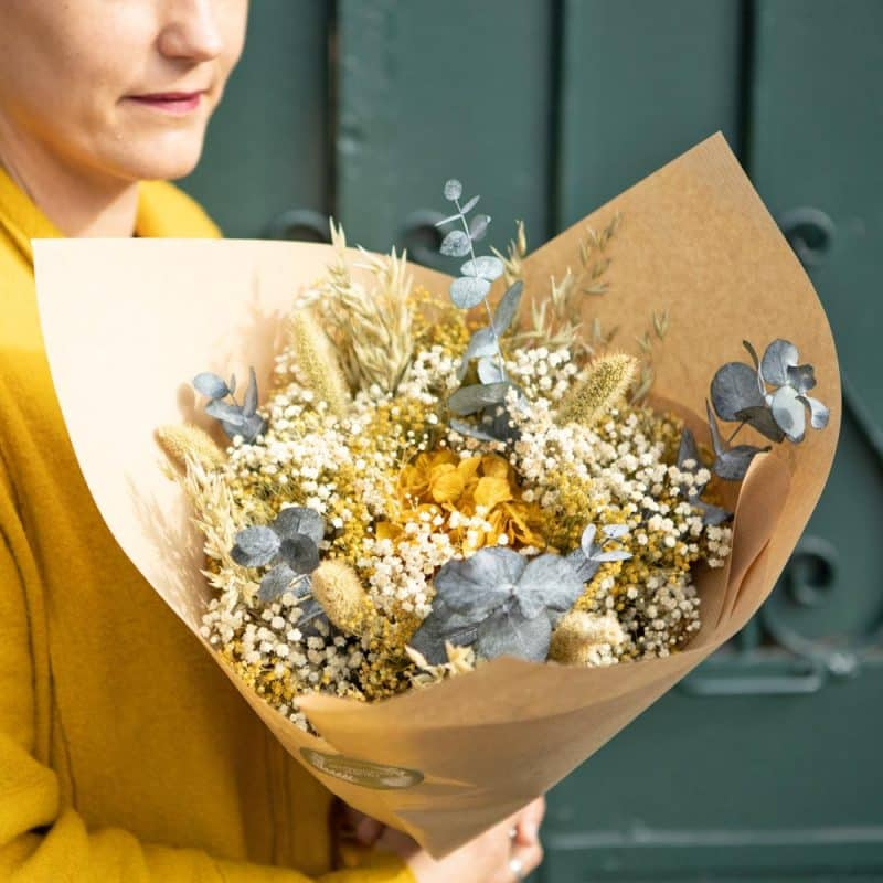 bouquet fleurs séchées eucalyptus