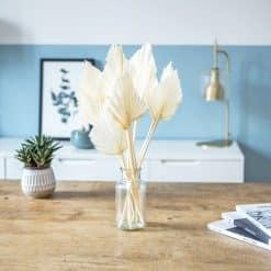 bouquet fleurs séchées palmes