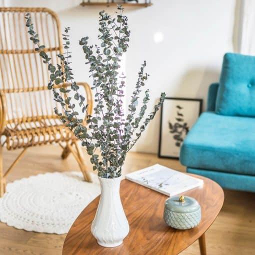 bouquet de fleurs séchées eucalyptus vert