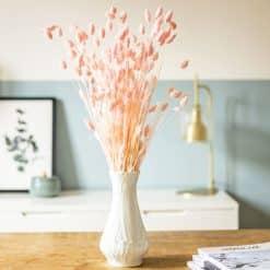 Bouquet de fleurs séchées phalaris rose