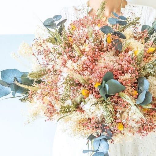 bouquet fleurs séchées mariage