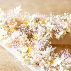 décoration mariage en fleurs séchées