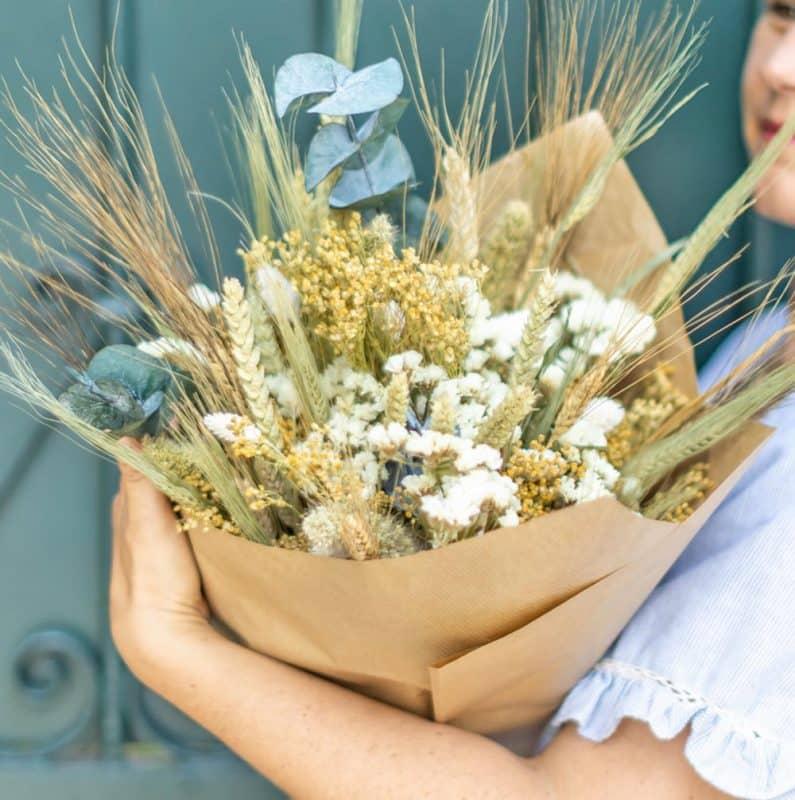 bouquet fleurs séchés naturel