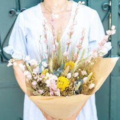 bouquet fleurs séchées champêtre
