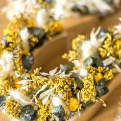 décoration en fleurs séchées