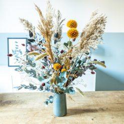 Bouquet de fleurs séchées aux couleurs de l'automne
